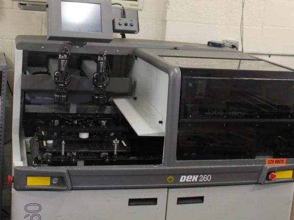Dek 260 semi automatic Stencil Printer w/ vision alignment